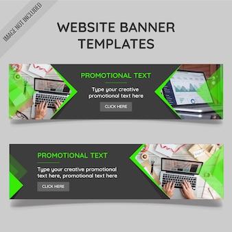 Modelos da bandeira do web site