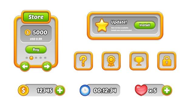 Modelos da interface do usuário do jogo