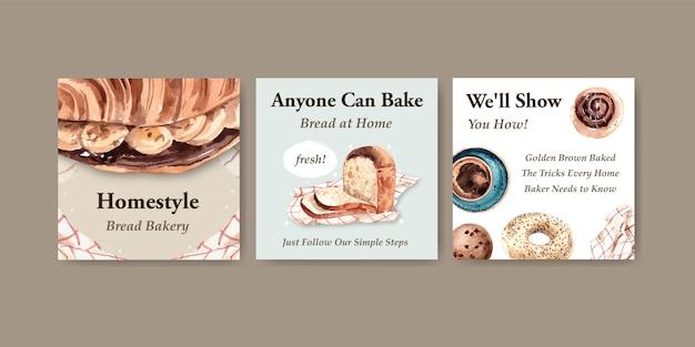 Modelos de anúncios para vendas de padaria