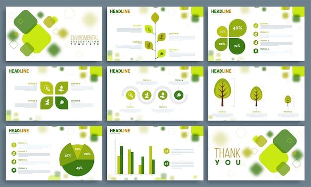 Modelos de apresentação ambiental definidos.