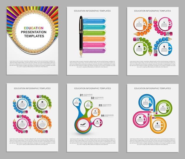 Modelos de apresentação de negócios. elementos modernos de infográfico. pode ser usado para apresentações de negócios, folheto, banner de informações e design de capa de brochura.