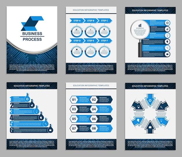 Modelos de apresentação de negócios elementos modernos de infográfico