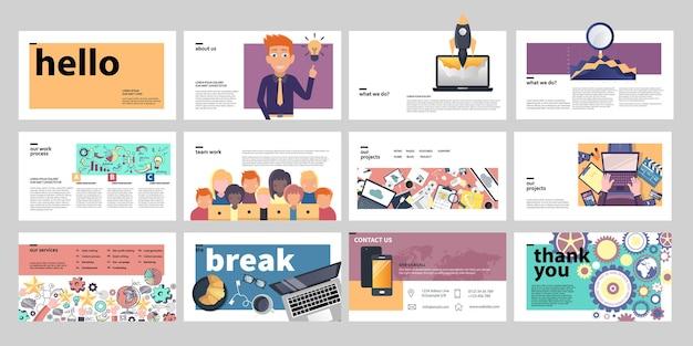 Modelos de apresentação para negócios