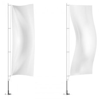 Modelos de bandeira de bandeira Vetor Premium