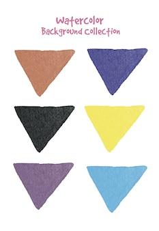 Modelos de banner aquarela artísticos com um espaço de texto ou design