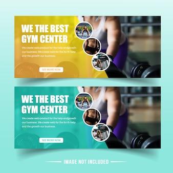 Modelos de banner da web de ginásio