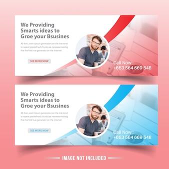 Modelos de banner da web de negócios