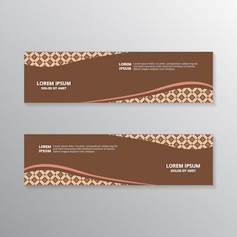 Modelos de banner de batik