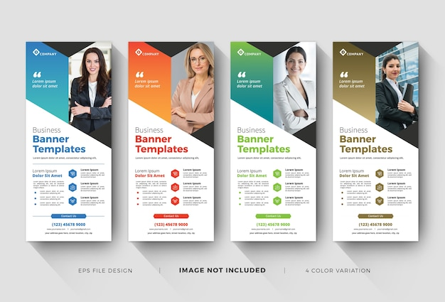 Modelos de banner de enrolamento de negócios