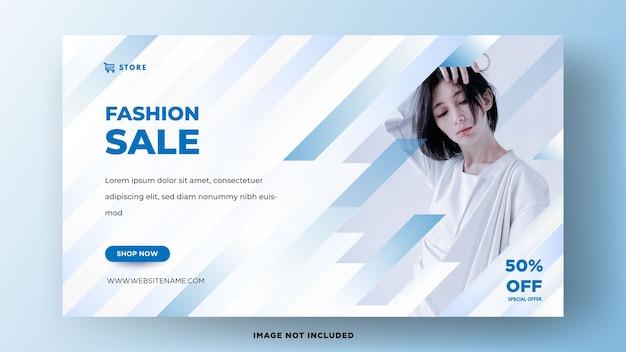 Modelos de banner de mídia social para venda de moda