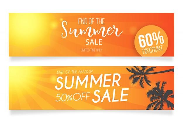 Modelos de banner de venda de verão