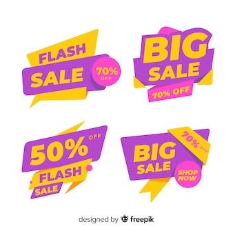 Modelos de banner de vendas com formas abstratas