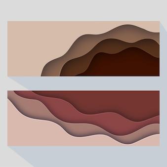 Modelos de banners abstratos criativos para web banners prontos para uso em web ou design de impressão Vetor Premium