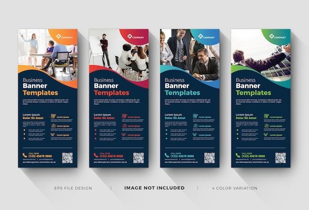 Modelos de banners corporativos de enrolar