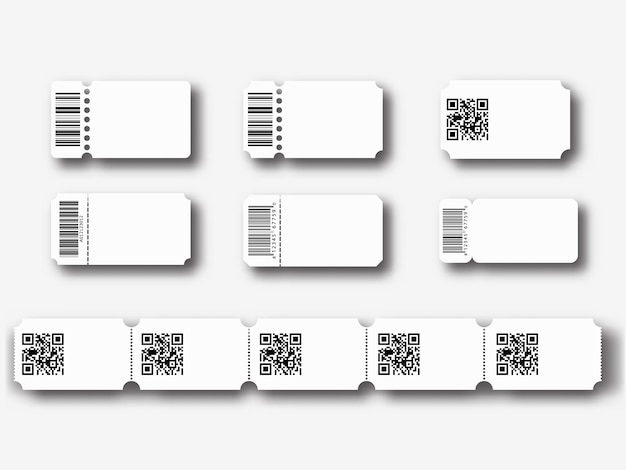 Modelos de bilhetes em branco