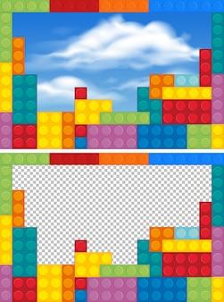 Modelos de borda com blocos coloridos