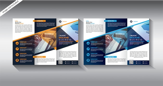 Modelos de brochura com três dobras