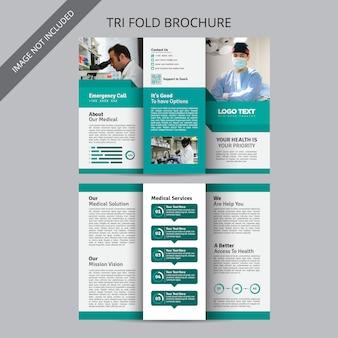 Modelos de brochura de medicina e assistência médica