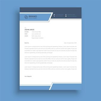 Modelos de cabeçalhos de cartas de estilo empresarial para o design do seu projeto