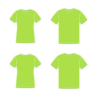 Modelos de camisetas de manga curta verde