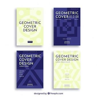 Modelos de capa abstrata com desenho geométrico