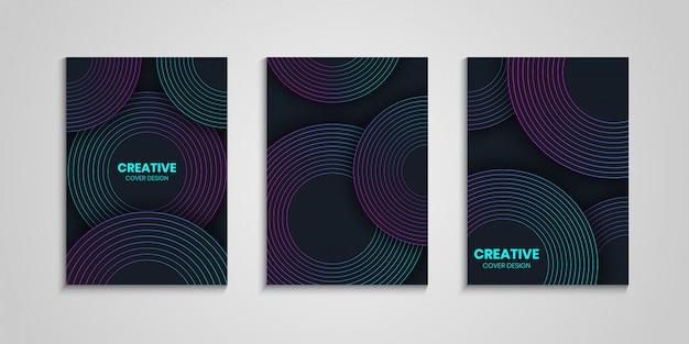 Modelos de capa com gradiente circle