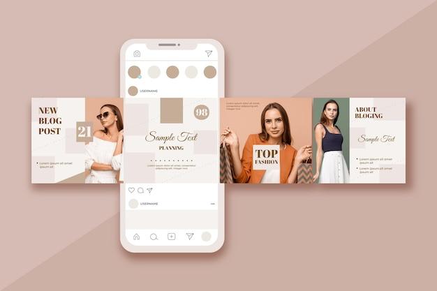 Modelos de carrossel de instagram para blog