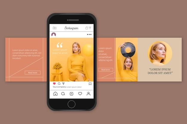 Modelos de carrossel do instagram