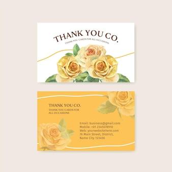Modelos de cartão de agradecimento com o conceito do dia dos pais em estilo aquarela