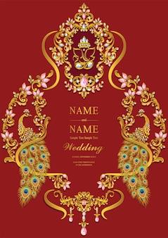 Modelos de cartão de convite de casamento.