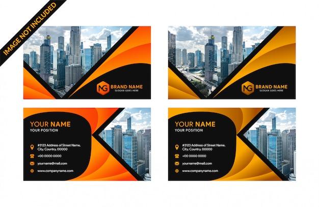 Modelos de cartão de negócios corporativos