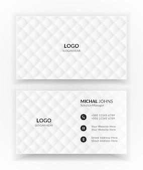 Modelos de cartão de visita brancos.