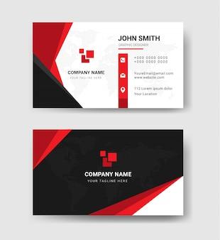 Modelos de cartão de visita em vermelho