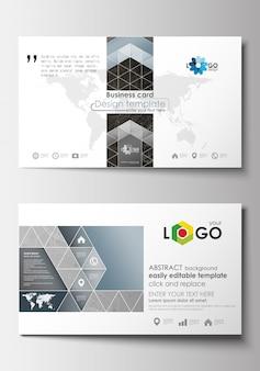 Modelos de cartão de visita. modelo de design de capa. construção 3d abstrata