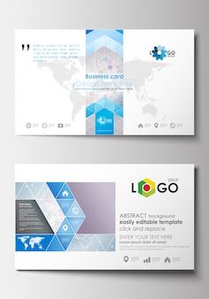 Modelos de cartão de visita. modelo de design de capa