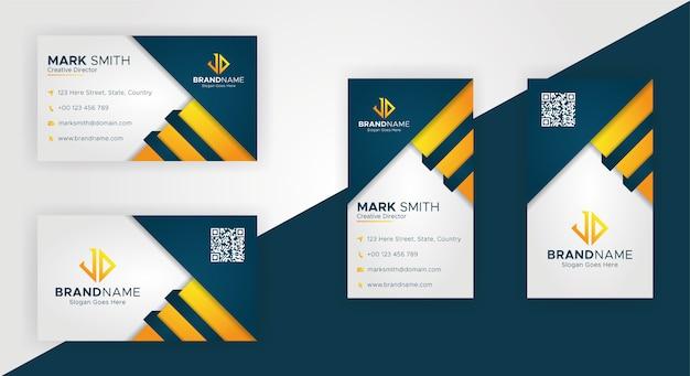 Modelos de cartão de visita moderno criativo