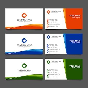 Modelos de cartão de visita moderno