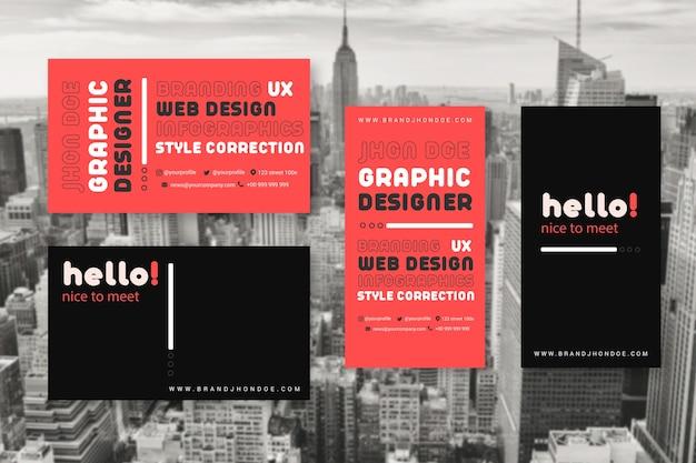 Modelos de cartão de visita para designers gráficos