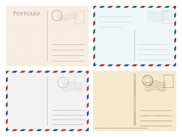 Modelos de cartão postal de viagem