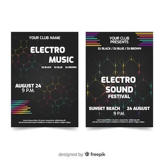 Modelos de cartaz do festival de música abstrata