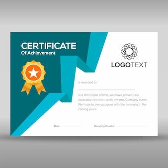 Modelos de certificado de apreciação elegante
