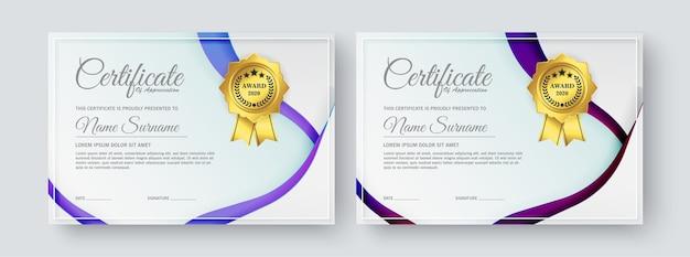 Modelos de certificado de diploma modernos