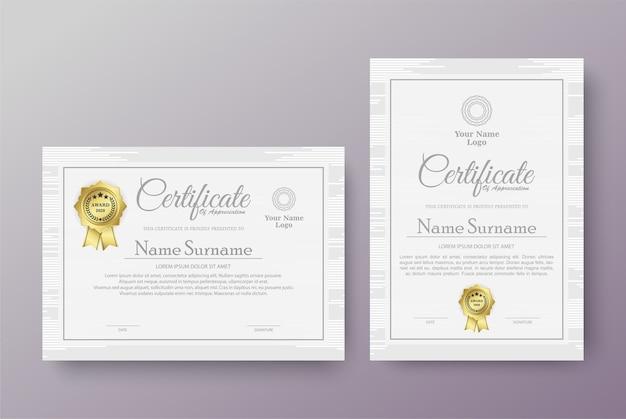 Modelos de certificados profissionais
