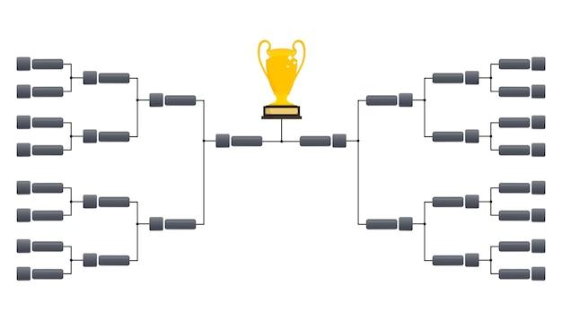 Modelos de chave de torneio. modelo de cronograma de playoffs. suporte de torneio de design criativo. ilustração de bracket.vector de torneio em branco.