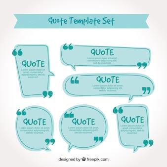 Modelos de citações desenhados a mão modernos