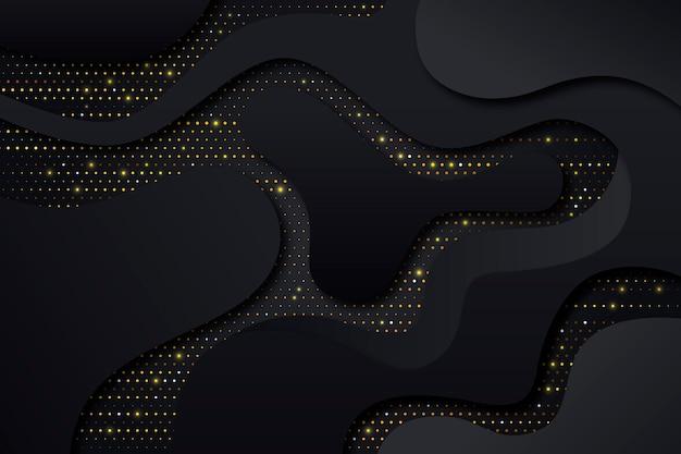 Modelos de corte fundo de papel preto