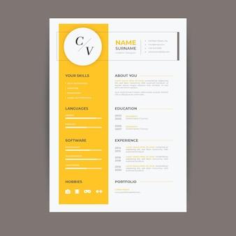 Modelos de curriculum vitae minimalistas
