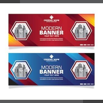 Modelos de design de banner abstrato
