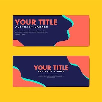 Modelos de design de banner colorido e abstrato