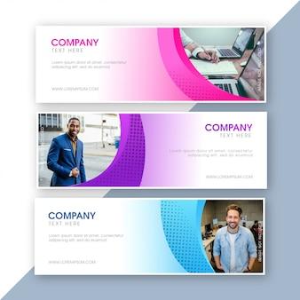 Modelos de design de banner de web de negócios